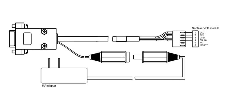 Rs 232 De 9 To 6 Pin Kit